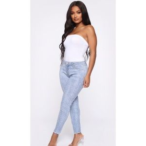 Fashion Nova Checkered Denim